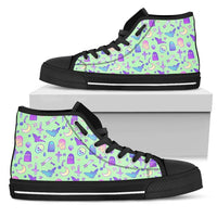 So Kawaii Shop Womens High Top - Black - Batty Mint / US5.5 (EU36) The Kawaii Feeling a Little Batty Dark High Top Sneaker PP.14233431