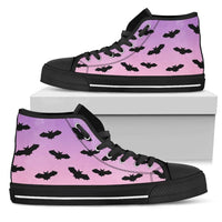 So Kawaii Shop Womens High Top - Black - Black High Top / US5.5 (EU36) The Kawaii Pastel Goth Black Bats High Top Sneaker PP.14391637