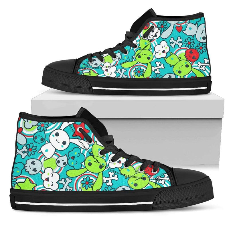 So Kawaii Shop Womens High Top - Black - black / US5.5 (EU36) Elec bright high white PP.14417500
