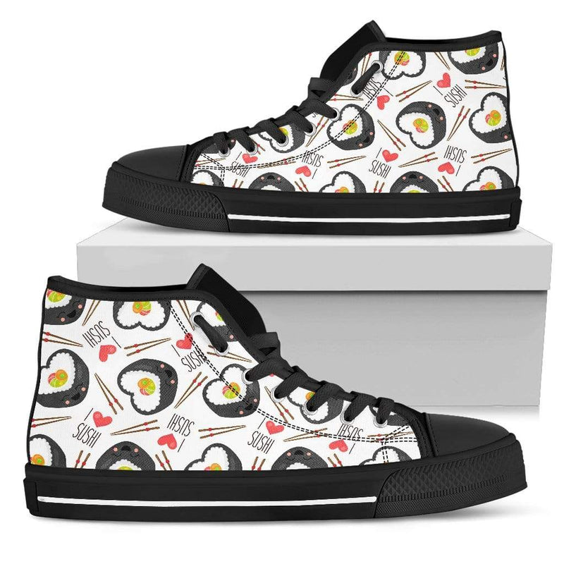 So Kawaii Shop Womens High Top - Black - Black / US5.5 (EU36) The I Love Sushi High Top Sneaker PP.14524407