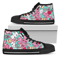 So Kawaii Shop Womens High Top - Black - Kawaii Pastel Goth Bunny Blue High Dark / US5.5 (EU36) Kawaii Pastel Goth Bunny Blue High Sneaker PP.12309246