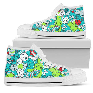 So Kawaii Shop Womens High Top - White - Elec bright high white / US5.5 (EU36) Elec bright high white PP.14417491