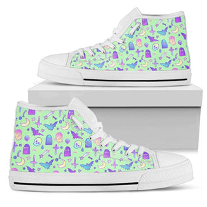 So Kawaii Shop Womens High Top - White - Feeling a Little Batty Light High Top Mint / US5.5 (EU36) Feeling a Little Batty Light High Top Sneaker PP.14231745