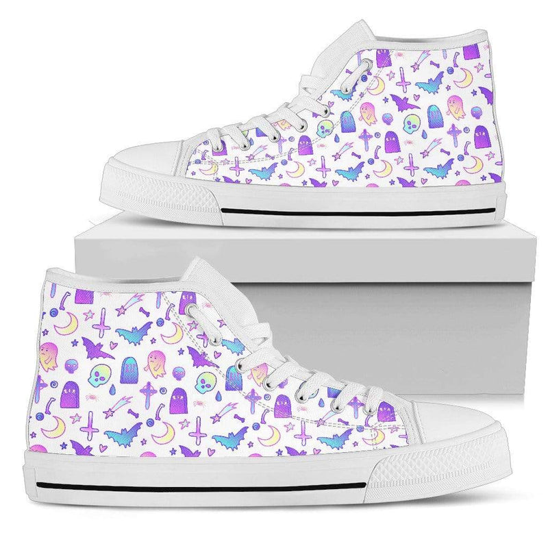 So Kawaii Shop Womens High Top - White - Feeling a Little Batty Light High Top White / US5.5 (EU36) Feeling a Little Batty Light High Top Sneaker PP.14231723