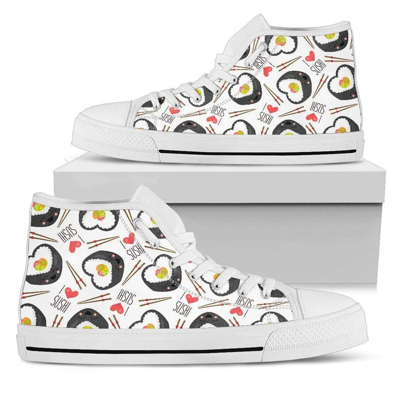 So Kawaii Shop Womens High Top - White - I love sushi white / US5.5 (EU36) The I Love Sushi High Top Sneaker PP.14524398