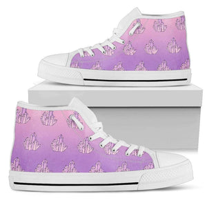 So Kawaii Shop Womens High Top - White - Mystical Crystals White / US5.5 (EU36) Mystical Crystals White PP.14511851