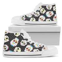 So Kawaii Shop Womens High Top - White - white / US5.5 (EU36) The Kawaii Sugar Skulls Sneaker PP.14496522