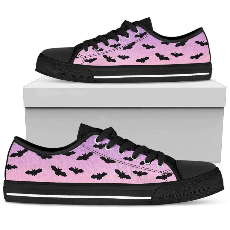 So Kawaii Shop Womens Low Top - Black - black / US5.5 (EU36) The Kawaii Pastel Bats Low Sneaker PP.14711807