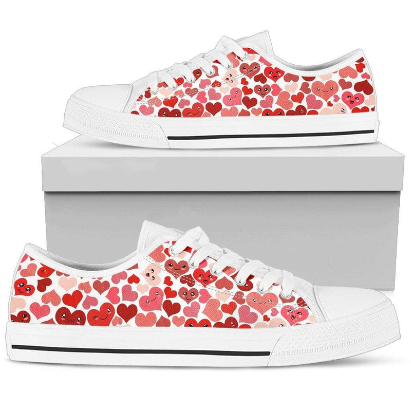 So Kawaii Shop Womens Low Top - White - Kawaii Happy Hearts Low Light / US5.5 (EU36) Kawaii Happy Hearts Low Sneaker PP.12309341
