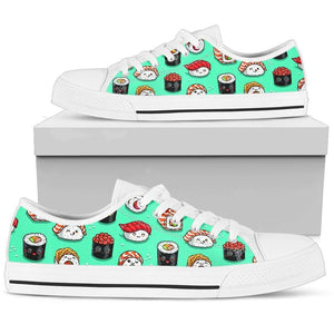 So Kawaii Shop Womens Low Top - White - Minty Sushi Low / US5.5 (EU36) The Kawaii Minty Sushi Low Sneaker PP.16974640