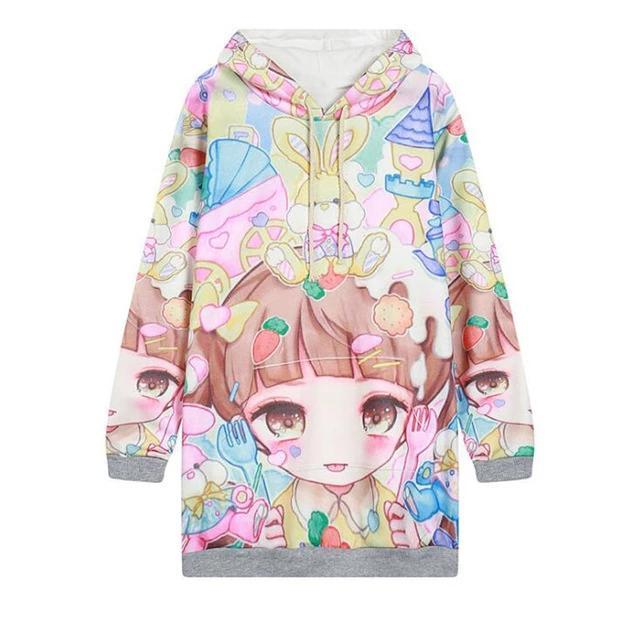 So Kawaii Shop WY0942 / One Size Kawaii Fleece Harajuku Style Hoodies 24379795-wy0942-one-size