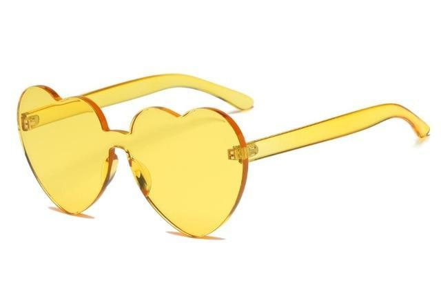 So Kawaii Shop Yellow Kawaii Candy Love Heart Sunglasses 18970771-yellow