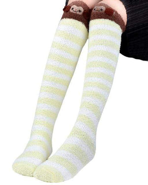 So Kawaii Shop Yellow Kawaii Japanese Animal Thigh High Socks 20070242-yellow