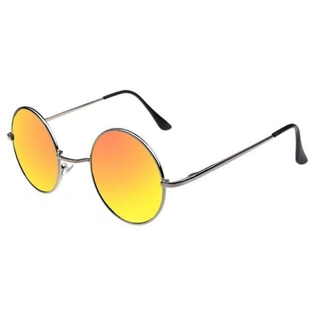 So Kawaii Shop Yellow Lens Retro Style Round Sunglasses 16504188-7