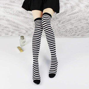 So Kawaii Shop Zebra Kawaii Stripe Thigh High Stockings 24508788-zebra