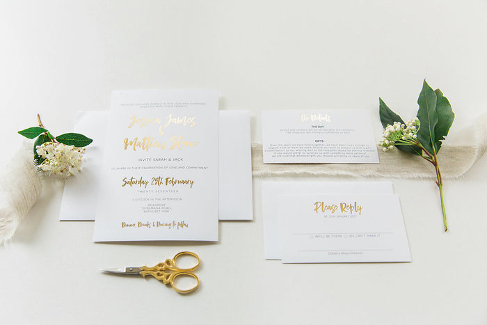 Foil Printed Invitation Package - Jessica