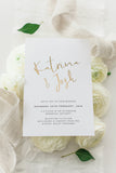 Foil Printed Invitation Package - Katrina