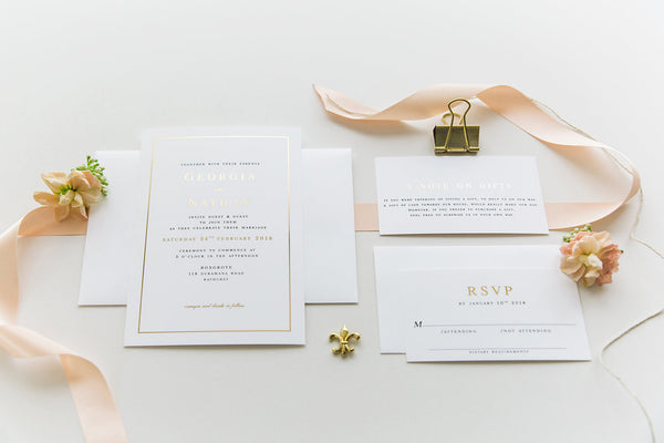 Foil Printed Invitation Package - Georgia