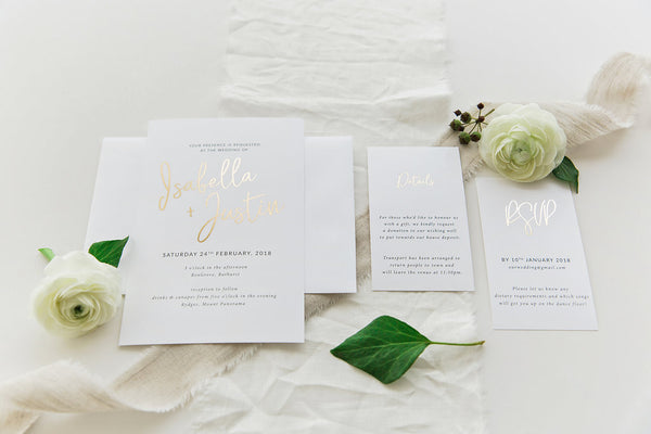 Foil Printed Invitation Package - Isabella