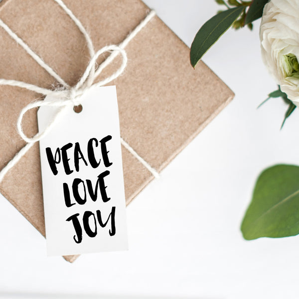 Christmas Gift Tags 'Peace Love Joy'