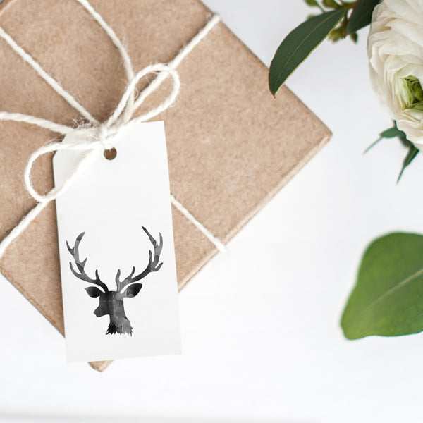 Christmas Gift Tags 'Watercolour Reindeer'