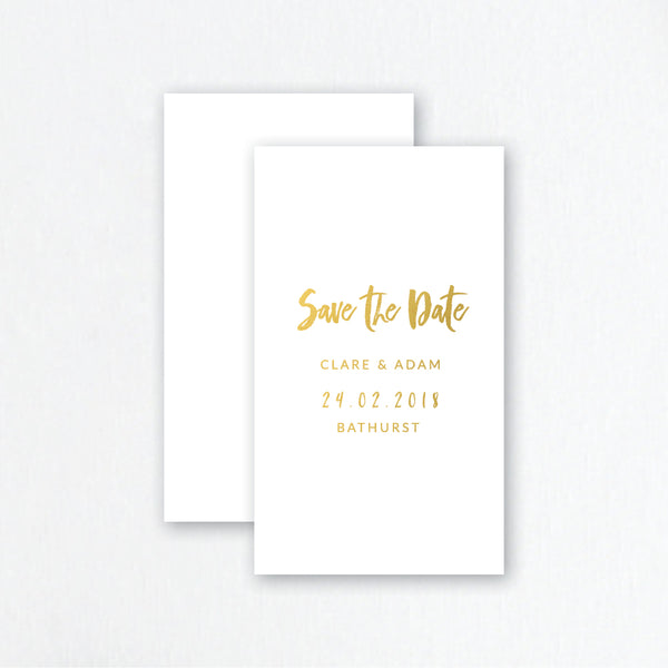 brush script save the date invites