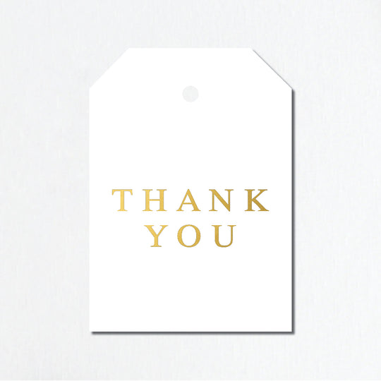 'Thank You' Gold Foil Gift Tags - Traditional