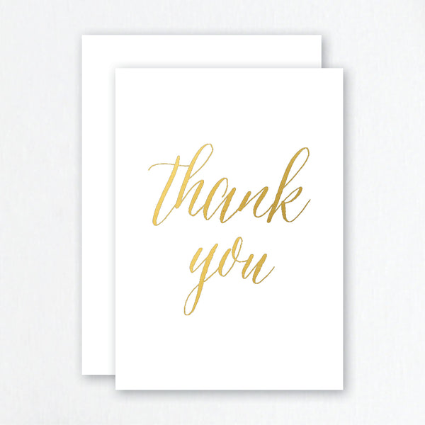 Thank You Cards Gold Foil - Script