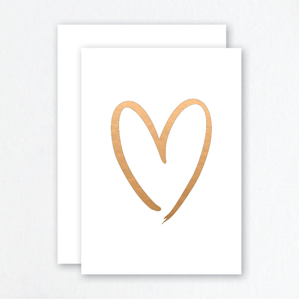 Heart Rose Gold Foil Greeting Card