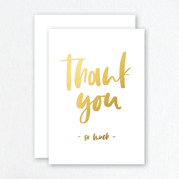 Thank You Cards Gold Foil - Brush Script