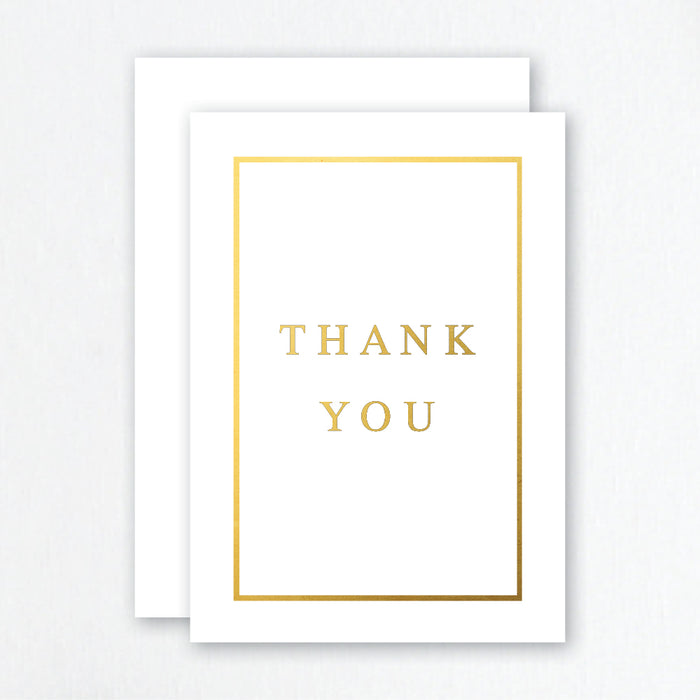 Thank You Cards Gold Foil - Traditional