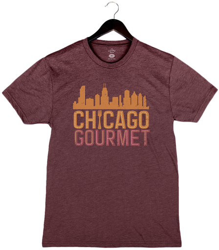Chicago Gourmet 2019 - Skyline - Unisex/Men's Crew - Heather Maroon