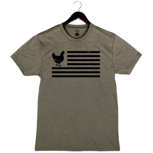 Chicken Flag - Unisex/Men's Crew - Military Green