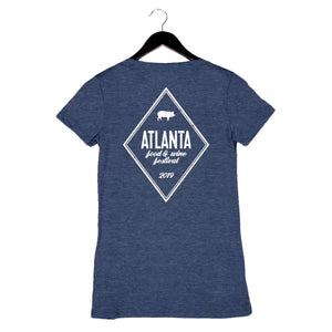 AFWF '19 - Diamond - Women's V-Neck Tee - Navy