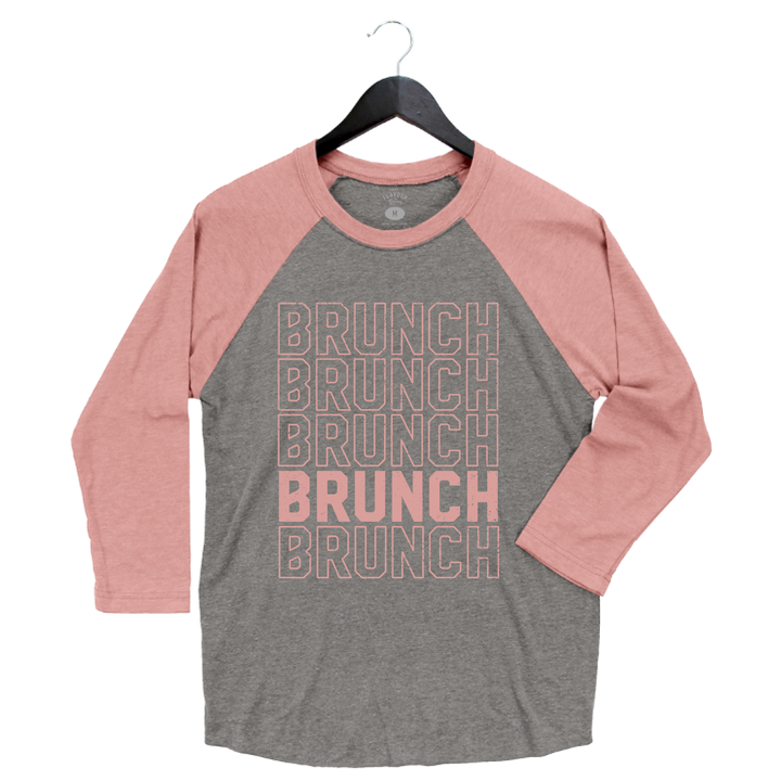 Brunch Boys - Brunch - Unisex/Men's Raglan - Pink/Grey