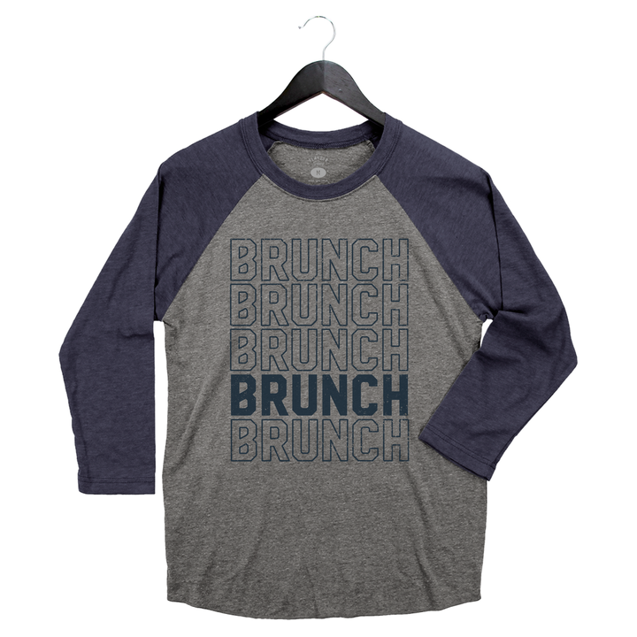 Brunch Boys - Brunch - Men's/Unisex Raglan - Grey & Vintage Navy