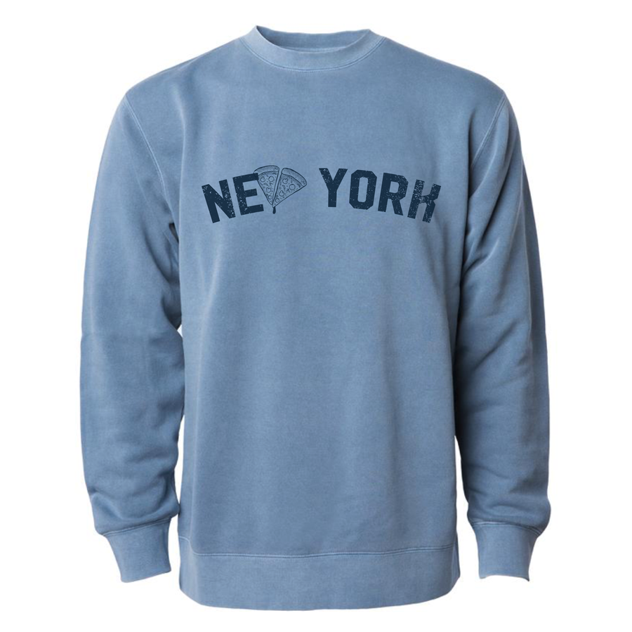 Brunch Boys - NY Pizza- Unisex Crewneck Sweatshirt - Slate Blue