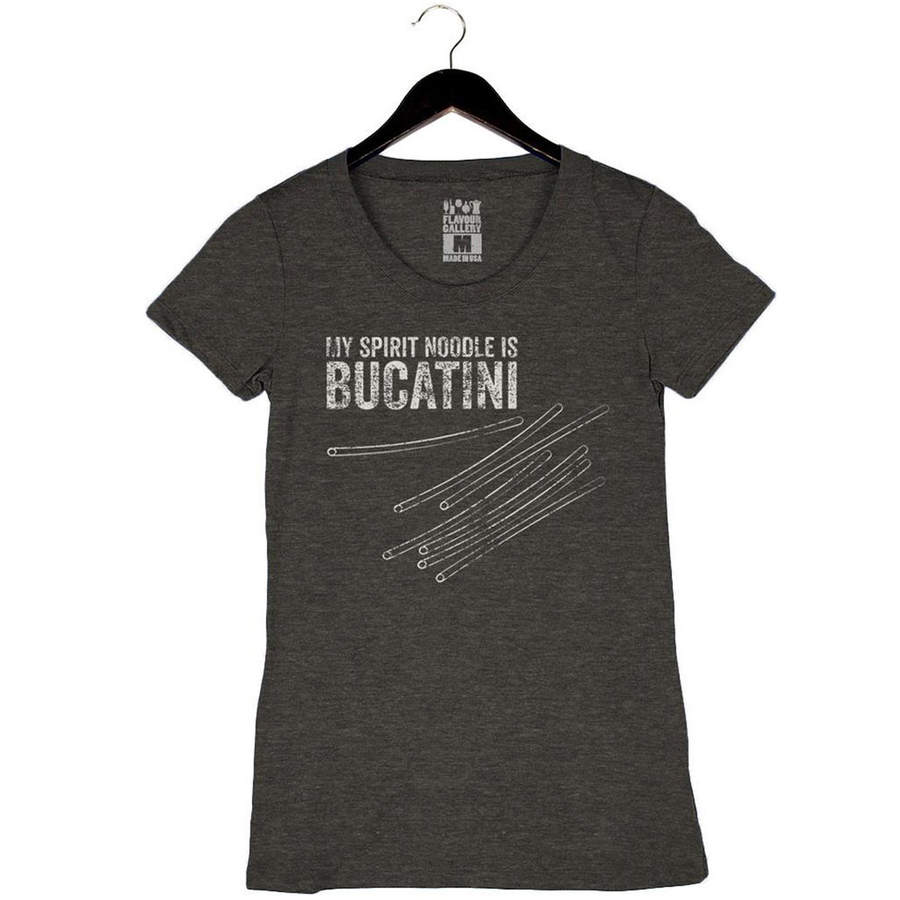 My Spirit Noodle Is Bucatini by Bruce Kalman - Women's Crew