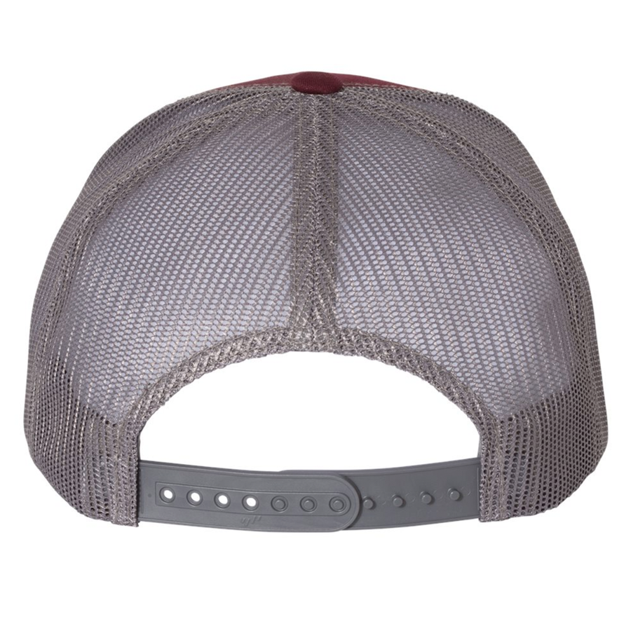 Spicy Tuna Roll - Trucker Hat - Maroon/Grey