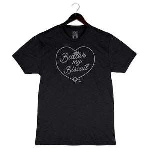 Butter My Biscuit - Unisex/Men's Crew - Charcoal Black