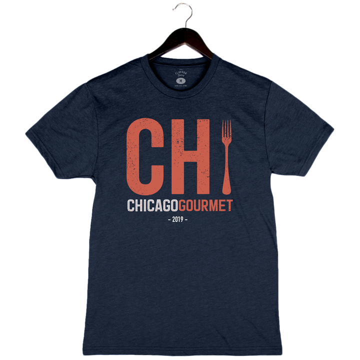Chicago Gourmet 2019 - Chi - Unisex/Men's Crew - Heather Navy
