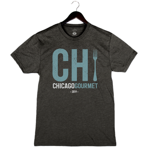 Chicago Gourmet 2019 - Chi - Unisex/Men's Crew - Charcoal Black