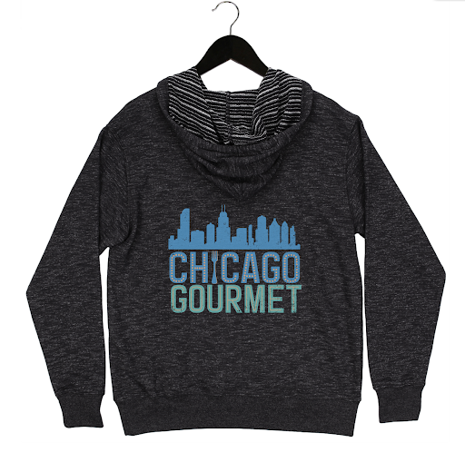 Chicago Gourmet 2019 - Skyline - Unisex Zip Hoodie - Black