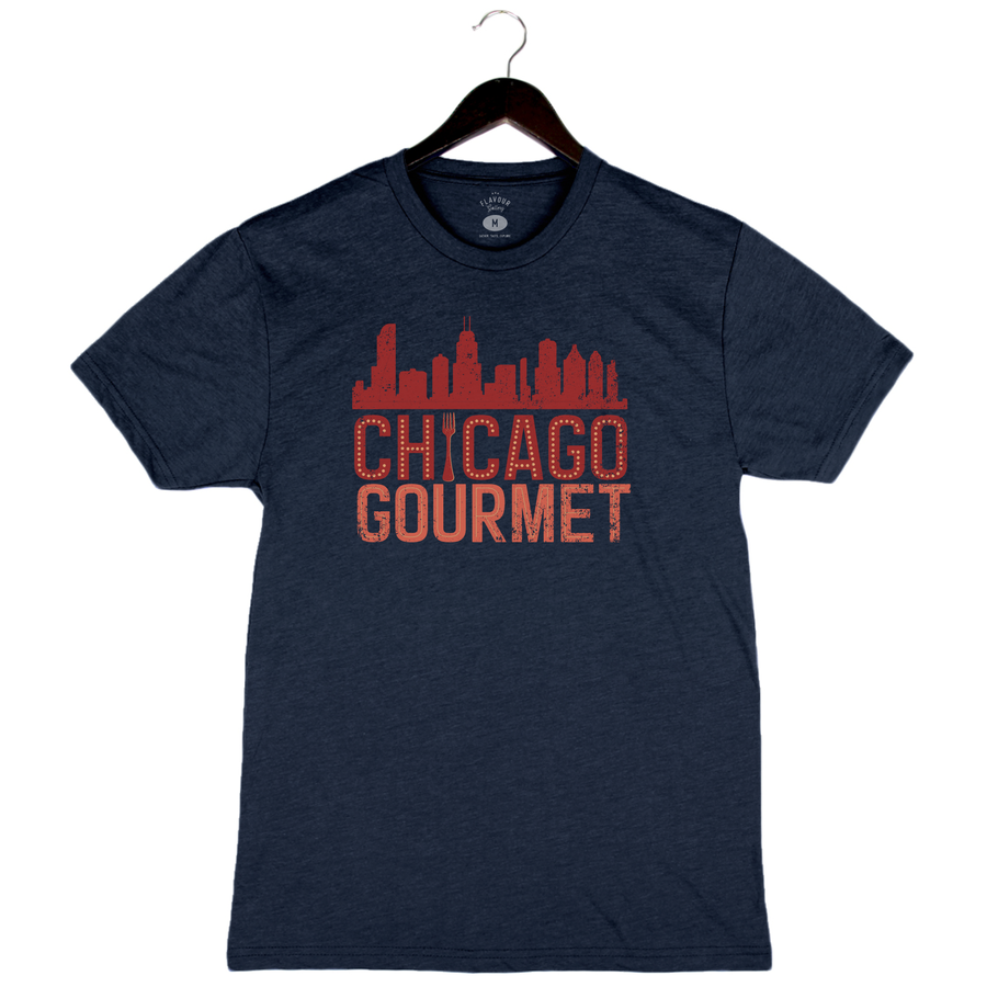Chicago Gourmet 2019 - Skyline - Unisex/Men's Crew - Heather Navy