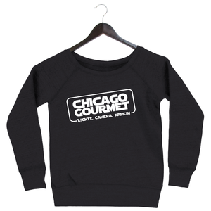 Chicago Gourmet 2019 - Chicago Solo - Women's Fleece Slouchy - Charcoal Black