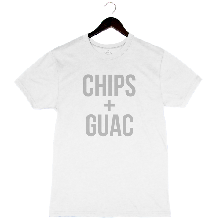 Chips + Guac - Unisex/Men's Keeper Tee - White
