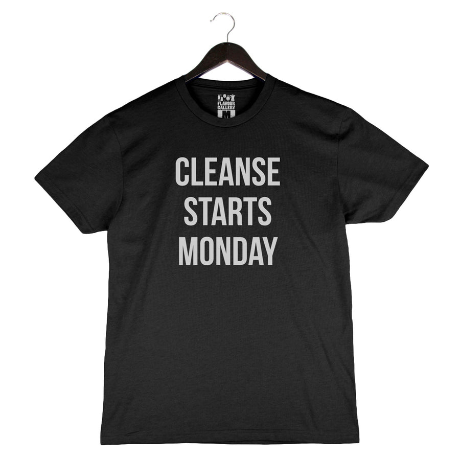 Cleanse Starts Monday - Unisex/Men's Crew - Black