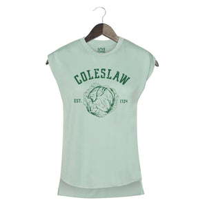 Coleslaw- Women's Rolled Sleeve Muscle Tank