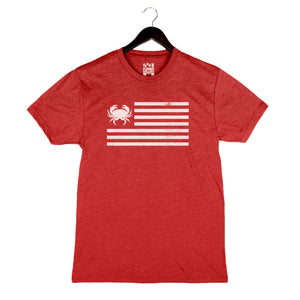Crab Flag - Unisex/Men's Crew - Red
