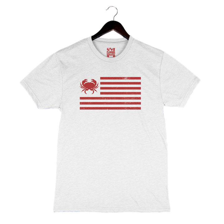 Crab Flag - Unisex/Men's Crew - Heather White